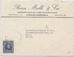 LANV3/4 - VENEZUELA LETTRE COMMERCIALE DE JUILLET 1928 - Venezuela