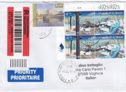 Nazioni Unite  Vienna 2013 -  - Lettera Racc.  X L´Italia Affrancata Con 5 Stamps - Centre International De Vienne