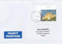 Nazioni Unite  Vienna 2013 -  - Lettera  X L´Italia Affrancata Con 1 Stamps - Centre International De Vienne