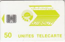 DJIBOUTI - OPT Logo 50 Units, Chip SC7, Used - Djibouti