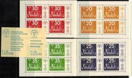 SCHWEDEN Sweden 1974 Philaausstellung Stockholmia Block Mi 2 - 5 + Eintrittskarte Ticket MNH - Zweden