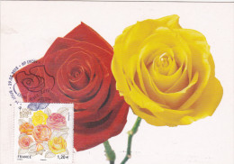 Carte Maximum FRANCE N°Yvert 4958 (ROSES) Obl Sp Ill 1er Jour - Cartoline Maximum