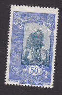 Somali Coast, Scott #102, Mint No Gum, Somali Girl, Issued 1915 - Côte Française Des Somalis (1894-1967)