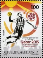 MK 2015-721 WORLD CHAMPIONSHIP IN QATAR, MAKEDONIA, 1 X 1v, MNH - Macédoine