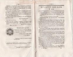 Bulletin Des Lois N° 654  - 1839 Convention Postale France Courrier  Grande Bretagne Indes Orientales - Decrees & Laws