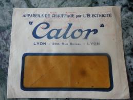"""Appareils Chauffage """"Calor"""" Lyon Belle Pub Au Dos 1935 - Electricité & Gaz"""