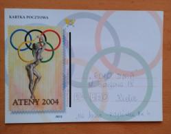 POLONIA 2004. JUEGOS OLÍMPICOS ATENAS 2004. USADO - USED - Sellos (representaciones)