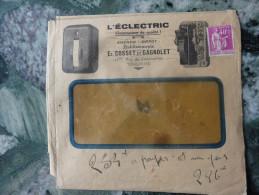 Type Paix Sur Enveloppe L'Electric E Gosset Et Gagnolet Toulouse 1935 - 1921-1960: Moderne