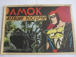 AMOK ATTAQUE NOCTURNE N 23 COLLECTION AMOK 1 TRIMESTRE 1950 - Pieds Nickelés, Les
