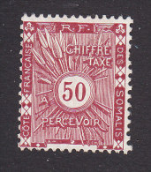 Somali Coast, Scott #J6, Mint No Gum, Postage Due, Issued 1915 - Côte Française Des Somalis (1894-1967)