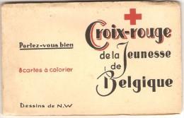 CROIX ROUGE De La JEUNESSE De BELGIQUE  ---   8 Cartes à Colorier - Croix-Rouge
