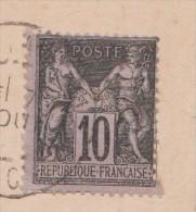 TIMBRE De CAVALLE N 3 Sur Carte Postale - France