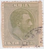 1884-139 CUBA SPAIN ESPAÑA. ALFONSO XII. 1884. Ed. 95. 1c. TIPO III SEGUNDO REGRABADO. USADO FINO. - Cuba