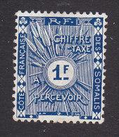 Somali Coast, Scott #J8, Mint No Gum, Postage Due, Issued 1915 - Côte Française Des Somalis (1894-1967)