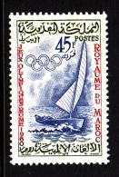 Morocco MH Scott #51 45fr Sailboat - 1960 Summer Olympics Rome - Maroc (1956-...)