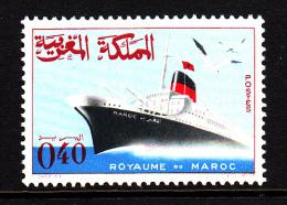 Morocco MNH Scott #148 40c Ship - Maroc (1956-...)