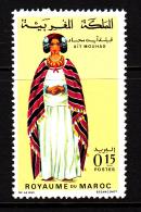 Morocco MNH Scott #199 15c Woman From Ait Mouhad - Regional Costumes - Maroc (1956-...)