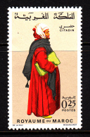 Morocco MNH Scott #200 25c Bargeman From Rabat Sale - Regional Costumes - Maroc (1956-...)