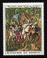 Morocco MNH Scott #228 1d Spahi Horsemen By Haram Al Glaoui - Maroc (1956-...)