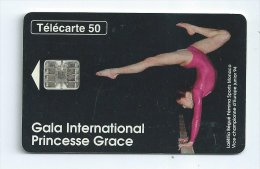 Telecarte De Monaco Gala International Princesse Grace MF32 Poutre Gymnaste - Mónaco