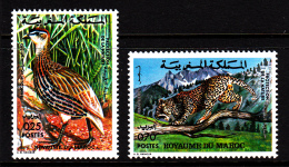 Morocco MNH Scott #324-#325 Set Of 2 Double-spurred Francolin, Leopard - Maroc (1956-...)