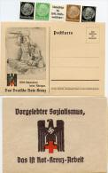 N3380 Umschlag Mit Karte Und Marken DR Das Ist Rot Kreuz Arbeit - Deutschland