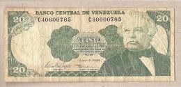 Venezuela - Banconota Circolata Da 20 Bolivares - 1995 - Venezuela