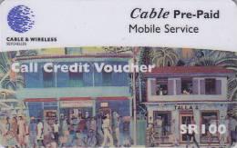 Télécarte Prépayée Pour Téléphone Portable / Afrique  - SEYCHELLES  - Africa Mobile Phone Prepaid Phonecard 1 - Seychelles