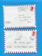 MAYOTTE -2 Lettres Cad DZAOUDZI 1989-pour Françe - Mayotte (1892-2011)