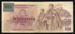 République Tchèque Billet De 500 Korun 1993 - Tchéquie