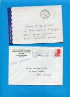 MAYOTTE -2 Lettres Cad MAMOUDZOU -1987+ 1989-pour Françe - Mayotte (1892-2011)