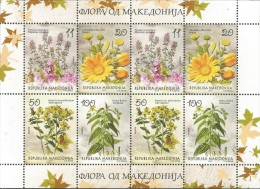 MK 2015-745-8 FLOWERS, MAKEDONIA, MS, MNH - Mazedonien