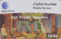 Télécarte Pour Téléphone Portable / Afrique  - SEYCHELLES / COQ ROOSTER - Africa Mobile Phone Prepaid Phonecard 6 - Seychelles