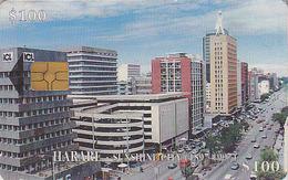 Télécarte à Puce Afrique ZIMBABWE - Capitale HARARE / Zim 28 - Africa Chip Phonecard Telefonkarte - Zimbabwe