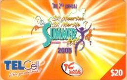 St Martin/ Antilles Neth. - PRE-TCM-1015, GSM Refil, Summer Fest 2004, Tel Cell, 20 $, Used As Scan - Antilles (Netherlands)