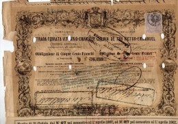 1865 STRADA FERRATA VITTORIO EMANUELE - Chemin De Fer & Tramway