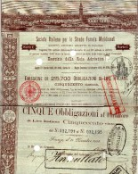 1888 FIRENZE - SOCIETA ITALIANA  PER LE STRADE FERRATE MERIDIONALI - Ferrocarril & Tranvías