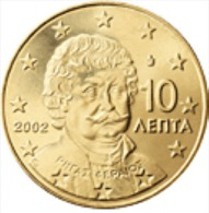 Griekenland    2008   10 Cent     UNC Uit De Rol  UNC Du Rouleaux !! - Grèce