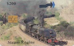 Télécarte à Puce ZIMBABWE - Steam TRAIN à Vapeur 200 $ Locomotive - Africa Chip Phonecard - Dampf  ZUG Trein - Zimbabwe