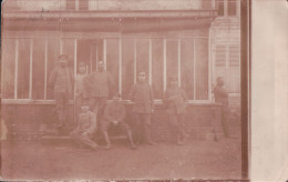 CARTE-PHOTO CHATEL-CHEHERY Groupe De Soldats Allemands 1916 - Other Municipalities