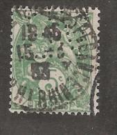 Perforé/perfin/lochung France No 111 V.B.  Valentin Bloch SA - Perforés
