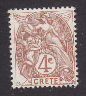 French Offices In Crete, Scott #4, Mint No Gum, Liberty, Equality And Fraternity, Issued 1902 - Creta (1902-1903)