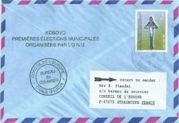 UN Nations Unies Pour Le Kosovo Lot De 2 Lettres Avec Superbes Cachets RR - Briefe U. Dokumente