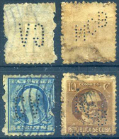 Perfins, Perforados, EEUU Y CUBA - Sellos