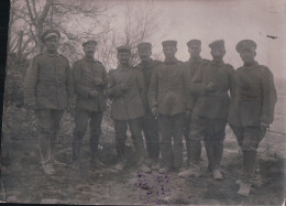 CARTE-PHOTO CHATEL-CHEHERY Groupe De Soldats Allemands 1915 - Other Municipalities