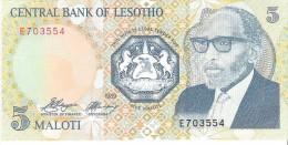 Lesotho - Pick 10 - 5 Maloti 1989 - Unc - Lesotho