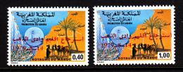 Morocco MNH Scott #441-#442 Set Of 2 Overprints - Return Of Oued Eddahab Province - Maroc (1956-...)