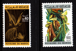 Morocco MNH Scott #474-#475 Set Of 2 Paintings By Mahjoubi Aherdan - Maroc (1956-...)