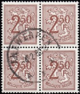 BELGIUM - Scott #422 Lion Rampant (*) / Used Block Of 4 Stamps (bk765) - Blocks & Sheetlets 1924-1960