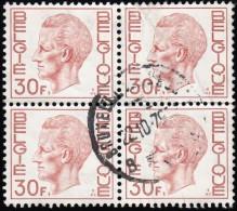 BELGIUM - Scott #778 King Baudoin / Used Block Of 4 Stamps (bk766) - Blocks & Sheetlets 1924-1960